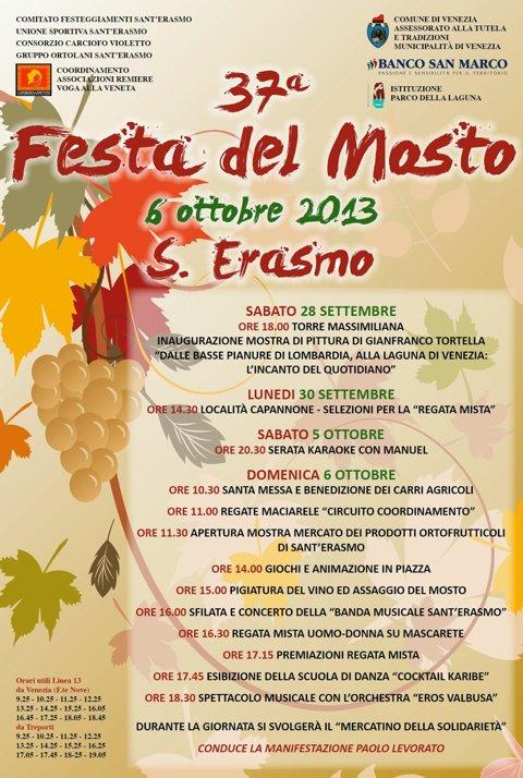 37ma Festa del Mosto - Sant'Erasmo
